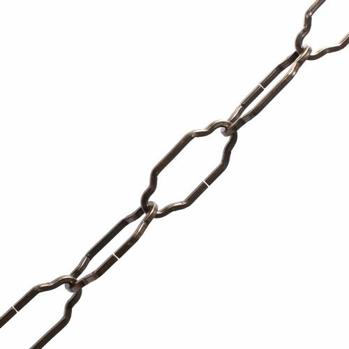 1 1/2'' Gothic Open Link Steel Chain Antique Finish Per 99cm